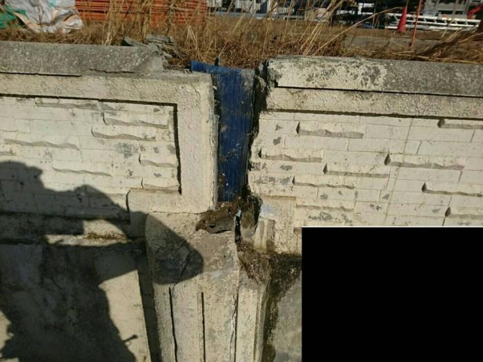 外壁欠損箇所補修、塗装の様子